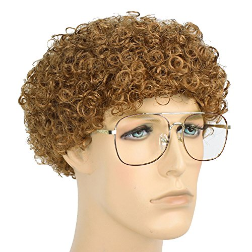 Male Geek Costume Ideas (Men's Sweet Nerd Geek Costume Wig and Glasses Kit (Strawberry Blond))