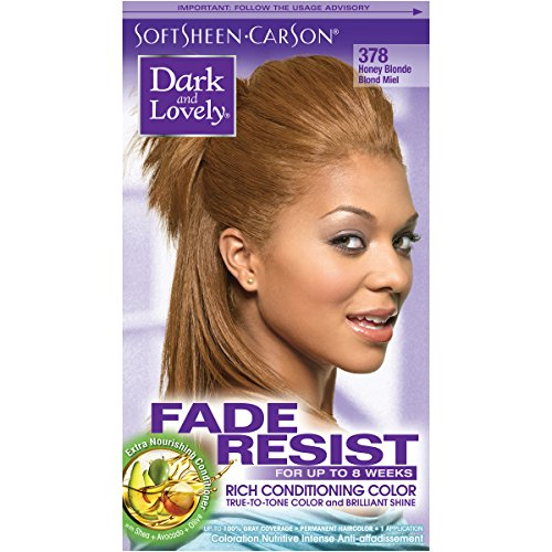 SoftSheen-Carson Dark and Lovely Fade Resist Rich Conditioning Color, Honey Blonde 378