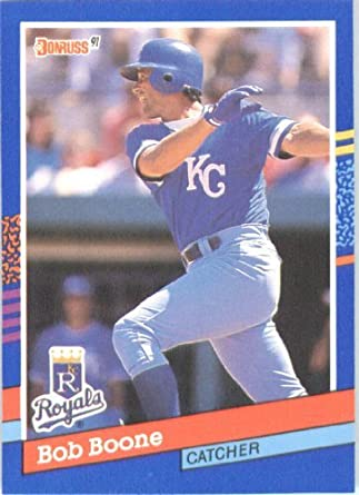 Amazoncom 1991 Donruss Baseball Card 356 Bob Boone