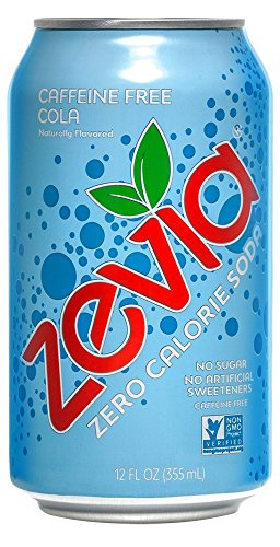 Zevia Zero Calorie Soda, Caffeine Free Cola, Naturally Sweetened Soda, (24) 12 Ounce Cans; Cola-flavored Carbonated Soda; Refreshing, Full of Flavor and Delicious Natural Sweetness with No Sugar ()