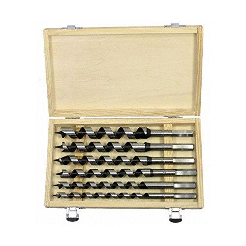 Pit Bull CHIAU0600 9-Inch Auger Drill Bit Set, 6-Piece (Auger Bit File)