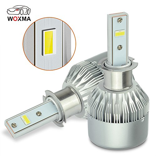 H3 LED Headlight Bulb,60W 6000K 7000 Lumens Extremely Super Brigh, with Advanced LED Chip and All-in-One Conversion kit,Plug & Play Xenon White