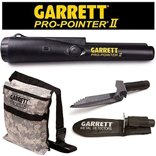 Garrett Pro Pointer II Two Metal Detector Pinpointer with Camo Digger's Pouch and Edge Digger by Garrett