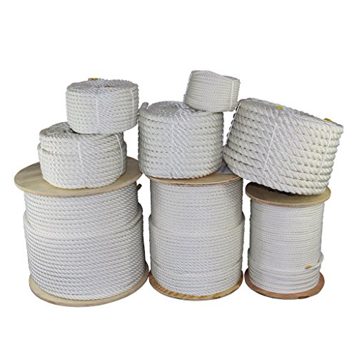"SGT KNOTS Twisted Polyester Rope 1/4"", 3/8"", 1/2"", 5/8"", 3/4"", 1"", 1.25"", 1.5"", 2"" x Several Lengths"