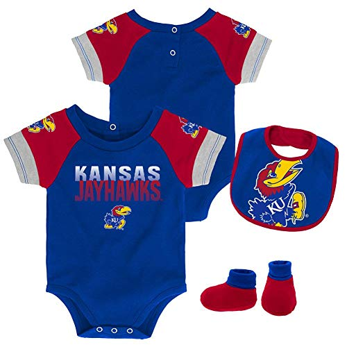 Outerstuff Infant Kansas Jayhawks KU Creeper Set Baby Snapsuit Set (6-9 M)