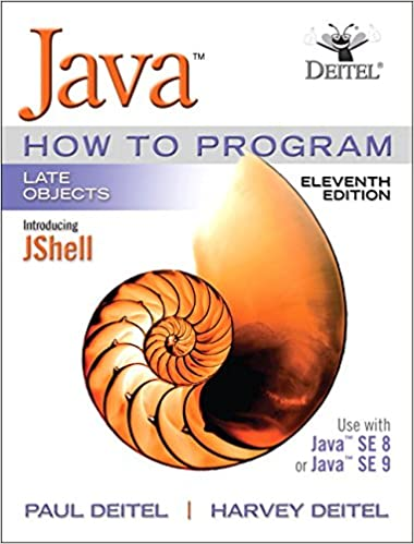 Java How To Program Late Objects 11th Edition Paul J Deitel