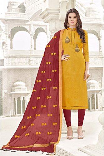 Da Facioun Indian Women Designer Partywear Ethnic Traditonal Salwar Kameez. Da Facioun Femmes Indiennes Concepteur Partywear Ethnique Traditionelles Salwar Kameez. Yellow 9 Jaune 9