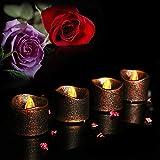 LED Candle Tea Lights, Elevin(TM) 4PC Flameless Tea Lights Electric Battery Fake Tealight Black Party LED Candles