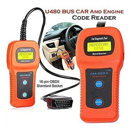 Amazon com: Orange U480 Auto OBD2 Scanner Check Car Engine Light