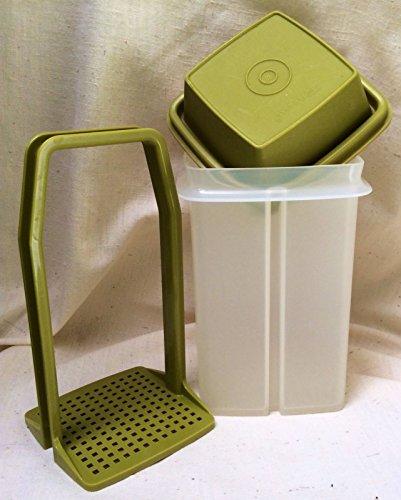 Vintage Tupperware-Sheer w/ Green Lid Pick a Deli, Pickle / Olive Storage and (Vintage Pickle)