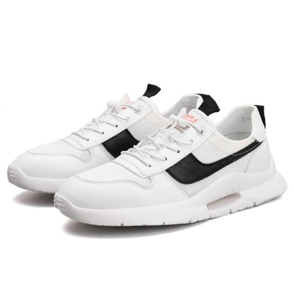 GAOLIXIA Zapatillas respirables para hombres Telas voladoras Zapatillas deportivas ligeras Zapatillas de baloncesto Zapatillas deportivas de moda Zapatos casuales Zapatos de skate ( Color : Blanco , tamaño : 40 ) 40 Blanco