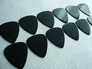 Guitar Picks Blank Celluloid No Printing Medium 071mm 100 Pcs Solid Black