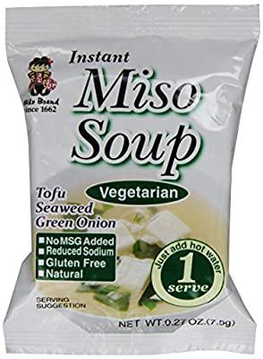 Miyasaka Freeze Dried Vegetarian Miso Soup, 0.27-Ounce (Pack of 12)
