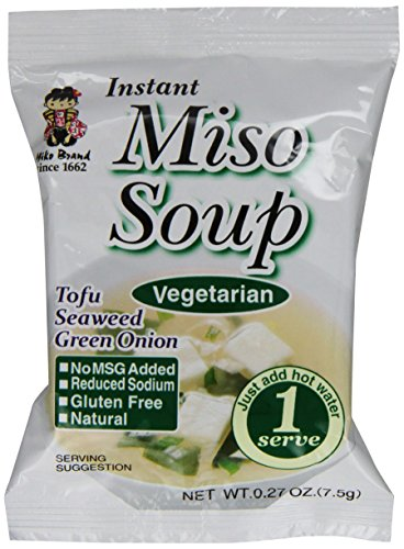 Low Sodium Soup Base - Miyasaka Freeze Dried Vegetarian Miso Soup, 0.27 oz (Pack of 12)