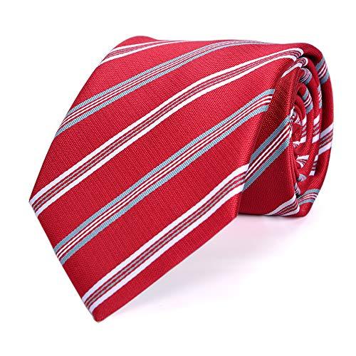 LUISDAN Stripe Tie Jacquard Woven Microfiber Formal Men's Neckties - Various Styles (Burgundy) - Formal Pattern Necktie