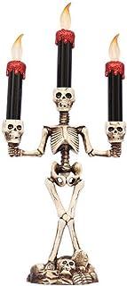 bouncevi 2020 Nouveau Chandelier Halloween Bougeoir Squelette Chandelier Famille Halloween Partie DIY Décoratif Chandelier Art Props