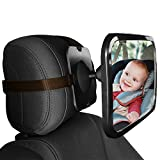 Baby Car Mirror, View Car Seat Mirror with Adjustable Straps and Wide Crystal Clear View of Infant in Rear Facing Car Seat-100% Shatterproof, Rotates 360°- Crash Tested and Certified for Safety