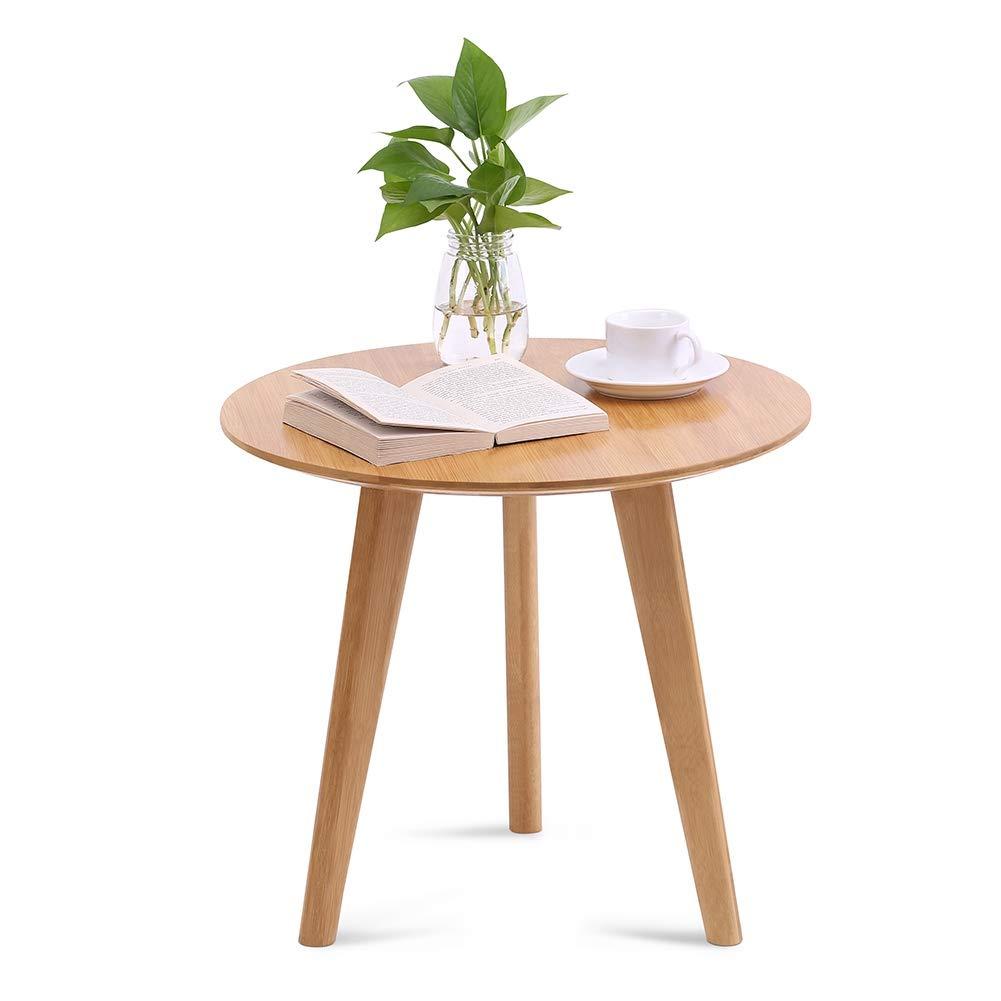 Amazon.com: POCREATION - Mesa de café de bambú ecológica ...