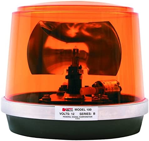 Federal Signal 442112-02 Class 1 Model 100 Halogen Beacon 175 FPM CAC Title 13 Permanent Mount with Dome Amber