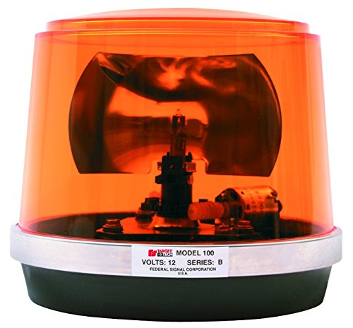 Federal Signal 443112-02 Class 1 Model 100 Halogen Beacon, Permanent Mount with Dome, CAC Title 13, 95 FPM, Amber by Federal Signal