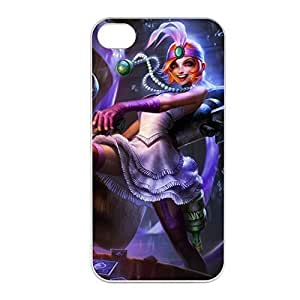 Jinx-002 League of Legends LoL case cover for Apple iPhone 4 / 4S - Plastic White
