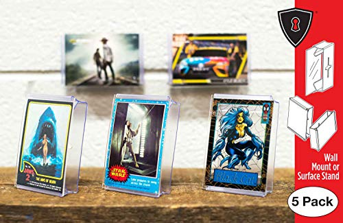 - Card Mount Trading Cards Stand and Wall Mount, Invisible Display for Collectible Cards, 5 Pack