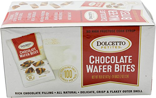 Dolcetto Chocolate-Filled Wafer Bites, 0.7 Ounce (Pack of 24)