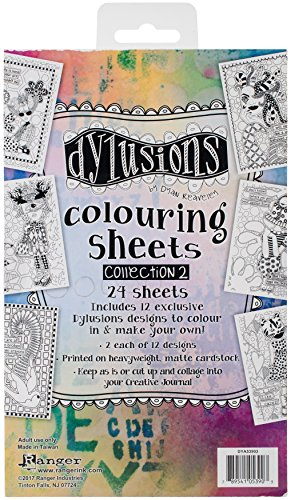 Ranger Collection 2 Dylusions Colouring Sheets 2