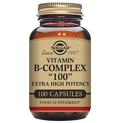 "Solgar B-Complex ""100"", Energy Metabolism, Non-GMO, 100 Vegetable Capsules"
