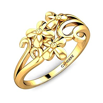 74a8c88635b Buy Candere By Kalyan Jewellers 22k (916) Yellow Gold Larrissa Ring Online  at Low Prices in India