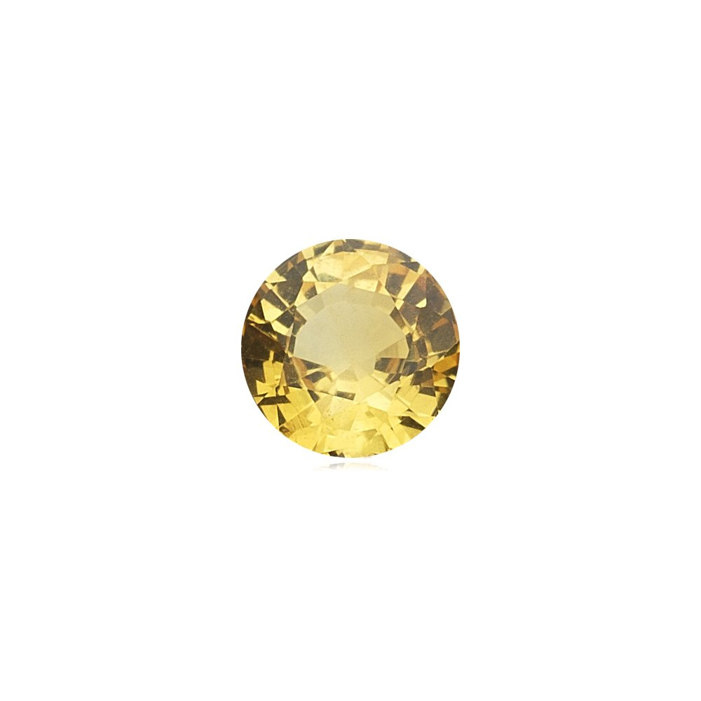 0.96-1.11 Cts of 6x6 mm AAA Round Yellow Sapphire ( 1 pc ) Loose Gemstone
