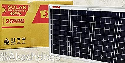 220600464 Image Unavailable. Image not available for. Colour  Exide - 40 watt Solar  Panel