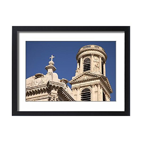 Framed 24x18 Print of Detail of Towers of Eglise Saint Sulpice, Saint-Germain-des-Pres (13934478) by Media Storehouse