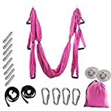 ZWFUN Aerial Yoga Swing Strong Wide Yoga Trapeze/Hammock/Sling for Antigravity Flying Yoga Inversion Fitness Training Sling/Inversion Tool
