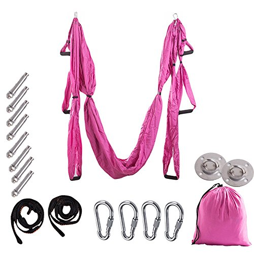 ZWFUN Aerial Yoga Swing Strong Wide Yoga Trapeze/Hammock/Sling for Antigravity Flying Yoga Inversion Fitness Training Sling/Inversion Tool by ZWFUN