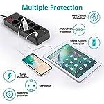 Multipresa-Elettrica-con-USB-Ciabatta-con-8-Prese-Elettriche-e-4-Porte-di-Carica-USB-Ciabatta-Multipresa-da-Scrivania-Elettrica-con-Protezione-da-Sovraccorrente-15-Metri-4000W16A-Nero