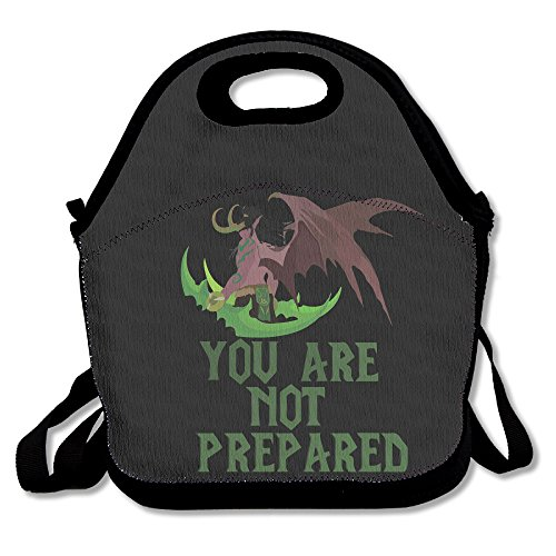Copdsa Illidan Stormrage World Of Warcraft Insulated Personalized Tote Lunch Food Bag Black