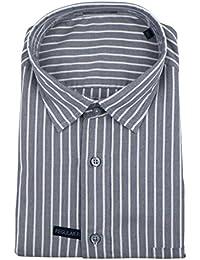 Zegna Sport Gray Striped Cotton Casual Button Down Shirt Size XL