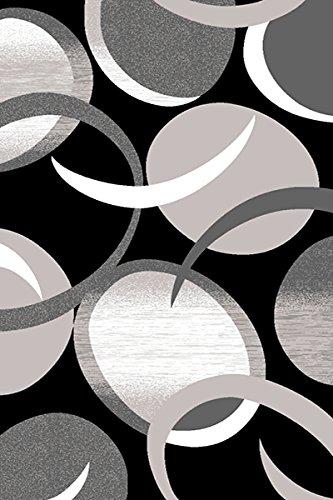 プレミアム3d手彫りモダン5 x 7 Rug Contemporaryカーペット1062グレーグレーホワイト   B07B8RDR9P