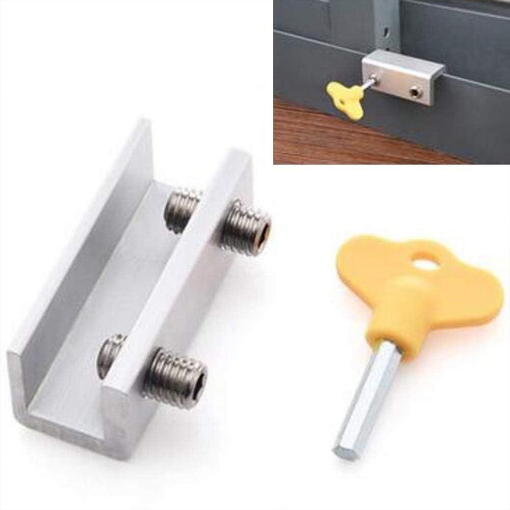 Bclaer72 - Cerradura de aluminio para puertas correderas y ...