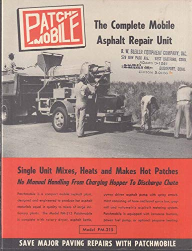 (Wylie Patchmobile Asphalt Repair Unit sales folder PM-215 Oklahoma City ca 1960)