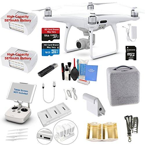 DJI Phantom 4 PRO Drone Quadcopter Bundle Kit with 2 Batteries, 4K...