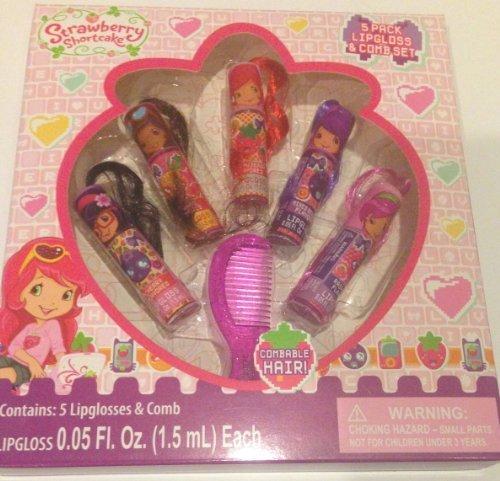 Strawberry Shortcake Gift Set 5 Lipglosses and Comb]()
