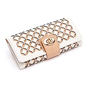 WOLF 301453 Chloe Jewelry Roll, Cream