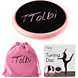 TTolbi Ballet Turning Board for Dancers, Gymnastics and Figure Skaters | Turn Disc to Improve Balance and Pirouette | Portable TurnBoard on Releve | Velvet Bag, Instructions, Turn Disc E-Guide