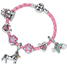 Doctor Unicorn Pink Unicorn Birthday Charm Bracelet Jewelry Gifts for Girls
