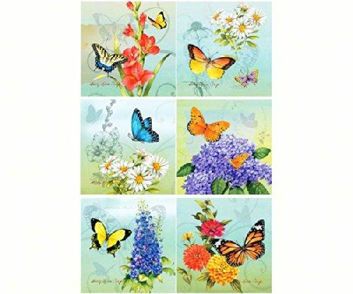 Hi-Look Inc. HL24099 Sandy Clough Butterflies (Assorted) Microfiber Cloths