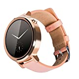 XIEMIN 16MM Lady Leather Watch Band/ Strap Watchband for Moto360 2nd gen Generation Regular Replacement Strap 16mm-band (Rose gold-Regular Style)