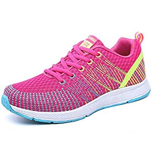 FYXKGLa Lightweight Summer Tide Shoes Women's Running Shoes Low to Help Women's Shoes Sports Shoes Students Flat Shoes (Color : Rose, Size : 38EU)