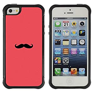 Paccase / Suave TPU GEL Caso Carcasa de Protección Funda para - moustache pink red hipster minimalist - Apple Iphone 5 / 5S